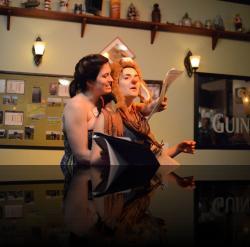 """Titania's an ass woman. (Megan Behm, Francesca Chilcote) <em>A Midsummer Night&#039;s Dream</em>. Photo by:&nbsp;<a href=""""https://www.facebook.com/kevin.hollenbeck.77"""" target=""""_blank"""">Kevin Hollenbeck</a>"""