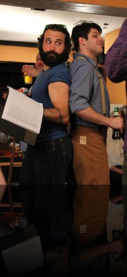 Dumaine and Longaville, bros 4 lyfe. (Kyle McGruther, Ben Calman) <em>Loves LeBeers Lost</em>