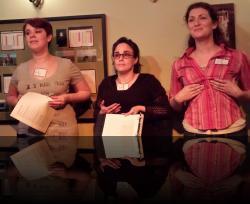 FBI. (Erica Smith, Tiffany Garfinkle, Aubri O'Connor) <em>Valentine&#039;s Gay</em>. Photo by:&nbsp;Shakespeare in the Pub