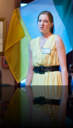 Helena decides to run away to Ireland. (Shaina Higgins) <em>A Midsummer Night&#039;s Dream</em>