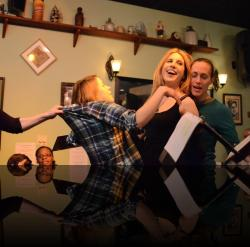"""Helena's Very Good Day. (Bethany Mayo, Mary Myers, Angela Pirko, Blythe Coons) <em>A Midsummer Night&#039;s Dream</em>. Photo by:&nbsp;<a href=""""https://www.facebook.com/kevin.hollenbeck.77"""" target=""""_blank"""">Kevin Hollenbeck</a>"""