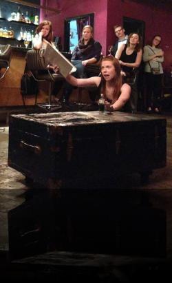 """Laertes regrets this mess. (Kelsey Meiklejohn) <em>Hanlet</em>. Photo by:&nbsp;<a href=""""https://www.facebook.com/sarah.jedrey"""" target=""""_blank"""">Sarah Jedrey</a>"""