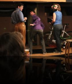 The boys show off their real value. (Ben Calman, Christopher Herring, Kyle McGruther) <em>Loves LeBeers Lost</em>