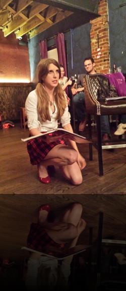 You're going to make Isabella kneel? In that skirt? (Angela Pirko) <em>Measure for Measure</em>