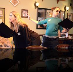 "Spaniel. Cocker spaniel. (Angela Pirko, Blythe Coons) <em>A Midsummer Night&#039;s Dream</em>. Photo by:&nbsp;<a href=""https://www.facebook.com/kevin.hollenbeck.77"" target=""_blank"">Kevin Hollenbeck</a>"